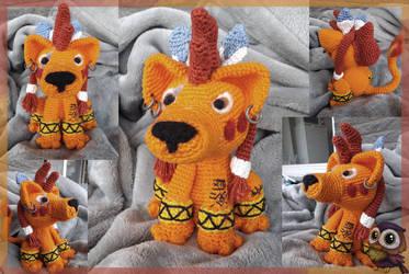 crochet Nanaki / Red XIII by Traum-Eule