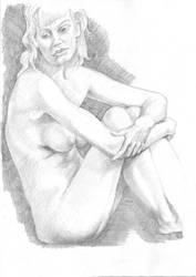 Almudena - Seated pose sketch by Descartes2
