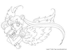 Moon Princess Lineart by Yan-Mazu