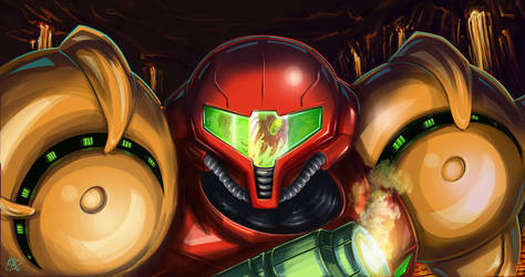 Metroid: Magmoor Confrontation by krishnacreative