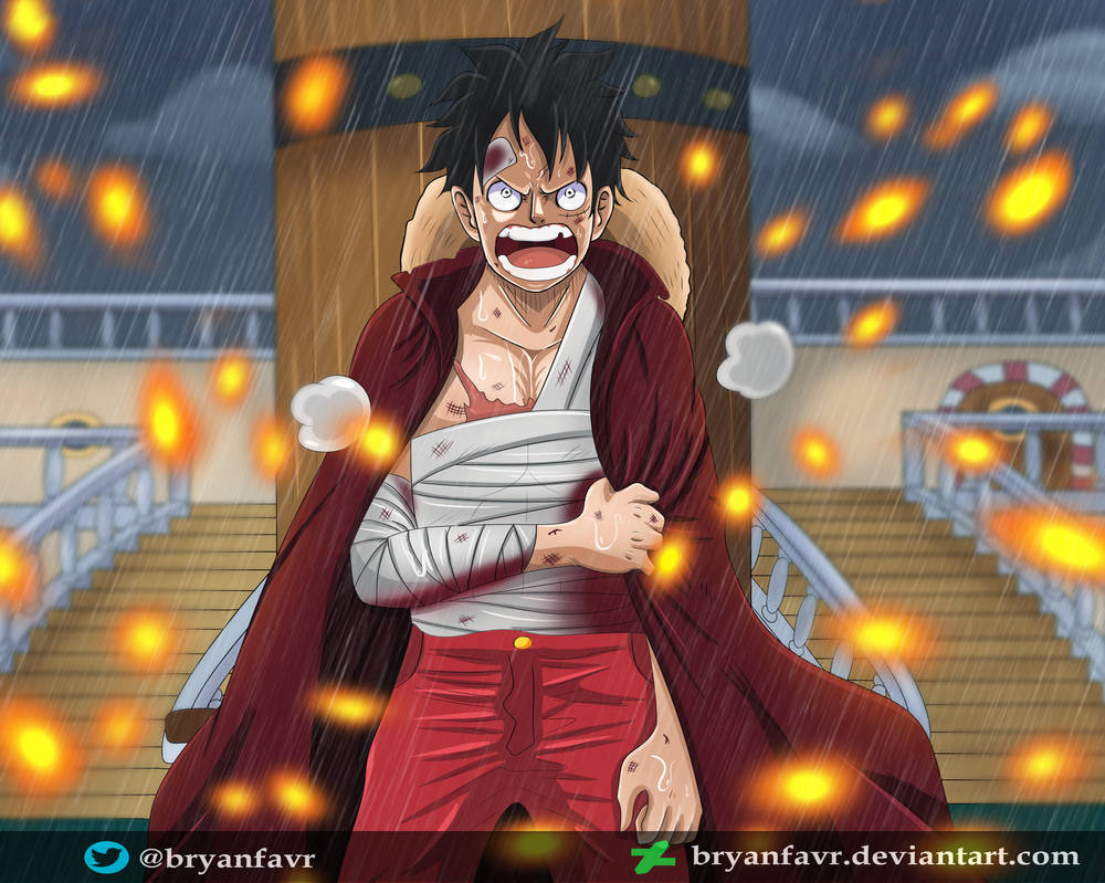 Luffy YO SOY TU CAPITAN AHORA (One Piece Ch. 901) by bryanfavr