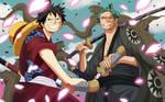 Luffy and Zoro (One Piece Ch. 912) by bryanfavr