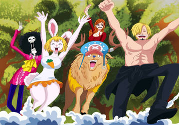 Mugiwaras (One Piece Ch. 919) by bryanfavr