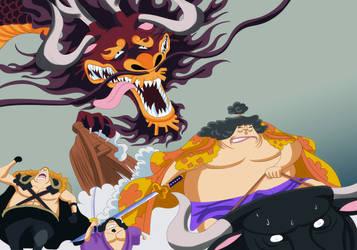 shutenmaru and kaido (One Piece Ch. 922) by bryanfavr