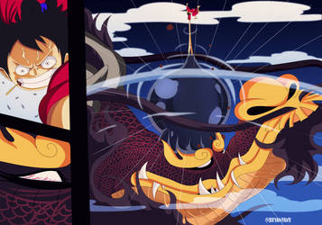 Luffy vs Kaido (One Piece Ch. 922) by bryanfavr