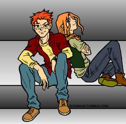 YJA: Kid Flash-Pied Piper BFF by elfgrove