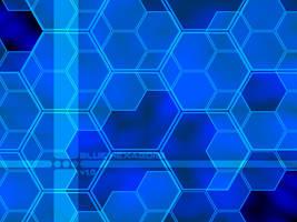 Blue Hexagons by k0ld