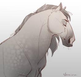Horsey Sketch by Naviira