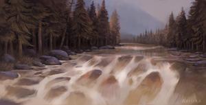 Rushing Waters by Naviira