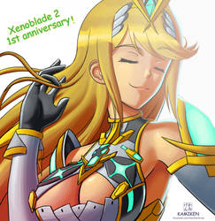 Xenoblade Chronicles 2, 1st anniversary! by Kamiken1