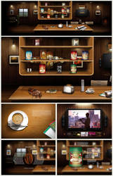 Enrista Coffee: Web Page Design / Split Screen by sivadigitalart