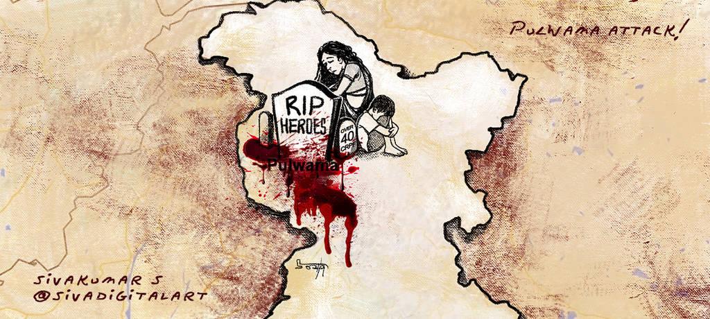 Pulwama Terror Attack! by sivadigitalart