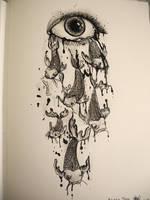 stream of tears. by artbyangelaa