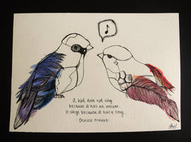bird song. by artbyangelaa