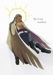 Angel kiss by Sunflowerforyou
