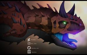 Demonic Carnotaurus by ZheyZhey