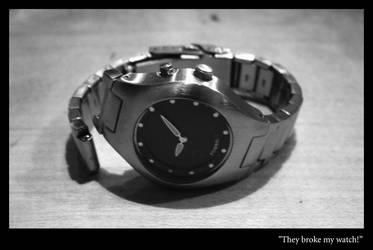 They broke my watch by MajusArts