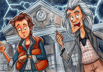 Back to the Future by danidraws