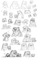 Bear Sketches by danidraws