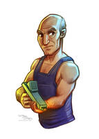 Captain Picard by danidraws