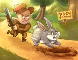 Elmer and Bugs by danidraws