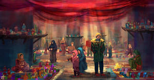 Bustling Market by JoshHutchinson