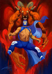BLUE DEMON by RAFAELGALLUR