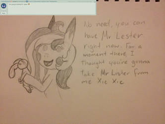 Comment Answer 14 by TheEasterArt
