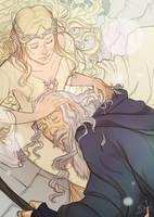 Gandalf and Galadriel by Mikado13