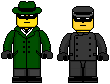 Lego'd Green Hornet and Kato by Ripplin