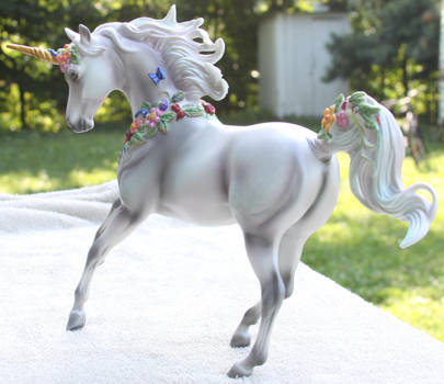 Breyer Unicorn Aurora Stock 5 by Lovely-DreamCatcher