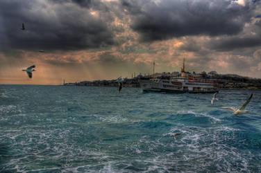 Light falls on Bosphorus by Stillmind