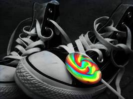 Lollipop Converse by KiwiiPai