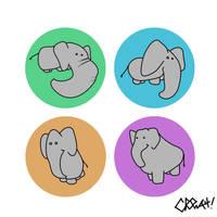Chibi elephant by NitenNoYume