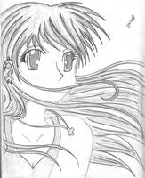 Anime Girl Sketch by MarieJaneWorks