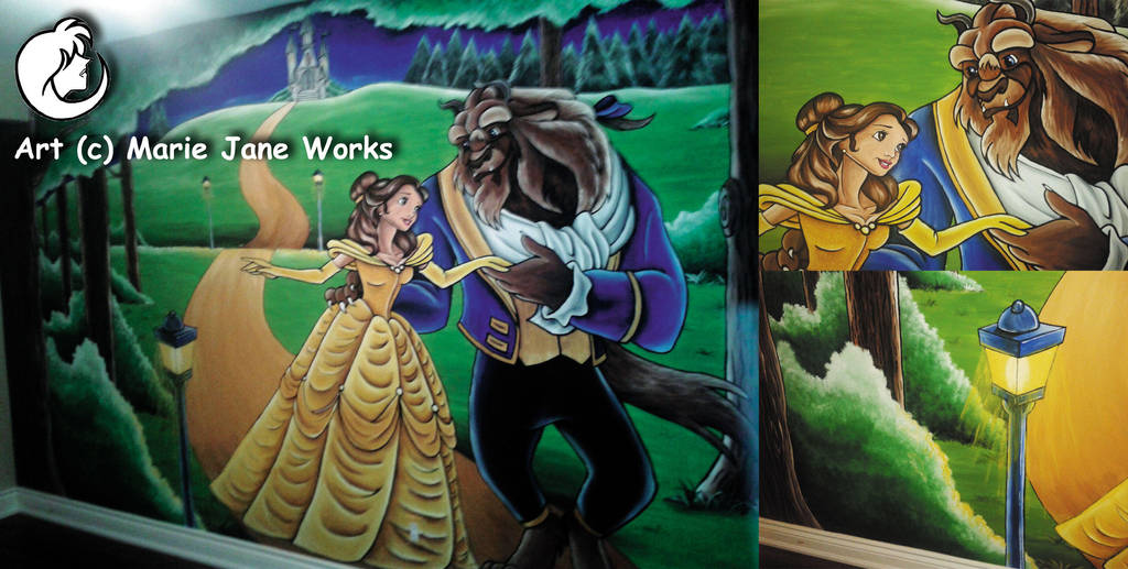 Beauty and the Beast ~ MURAL by MarieJaneWorks