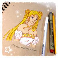 Princess Serenity ~ by MarieJaneWorks