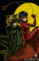 Lady Bug and Cat Noir by MarieJaneWorks