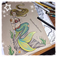 Character Commissions ~ Mermaid by MarieJaneWorks