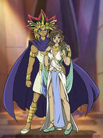 King and Queen of Egypt by MarieJaneWorks