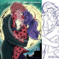 Commission ~ Spiderbug Engagement by MarieJaneWorks