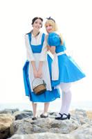 Blue dress, White apron by Cami86