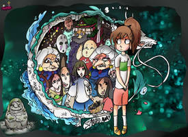 VERY LATE Ghibli Jam submission Spirited Away by BubbleDriver