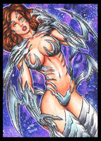 WITCHBLADE PERSONAL SKETCH CARD 9-2014 by AHochrein2010