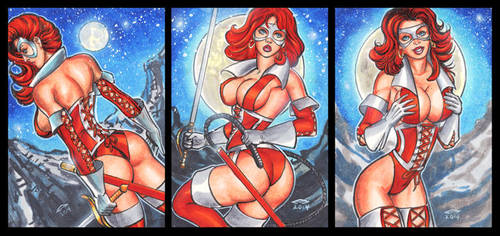 LADY RAWHIDE PERSONAL SKETCH CARDS by AHochrein2010
