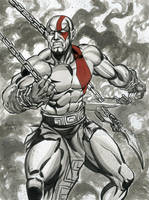 KRATOS INK SKETCH by AHochrein2010