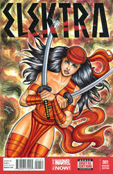 ELEKTRA SKETCH COVER COMMISSION by AHochrein2010