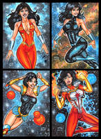 DONNA TROY PERSONAL SKETCH CARDS by AHochrein2010
