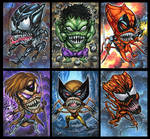 CHIBI BROOD PERSONAL SKETCH CARDS by AHochrein2010