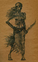 Undead pirate lady by G-i-n